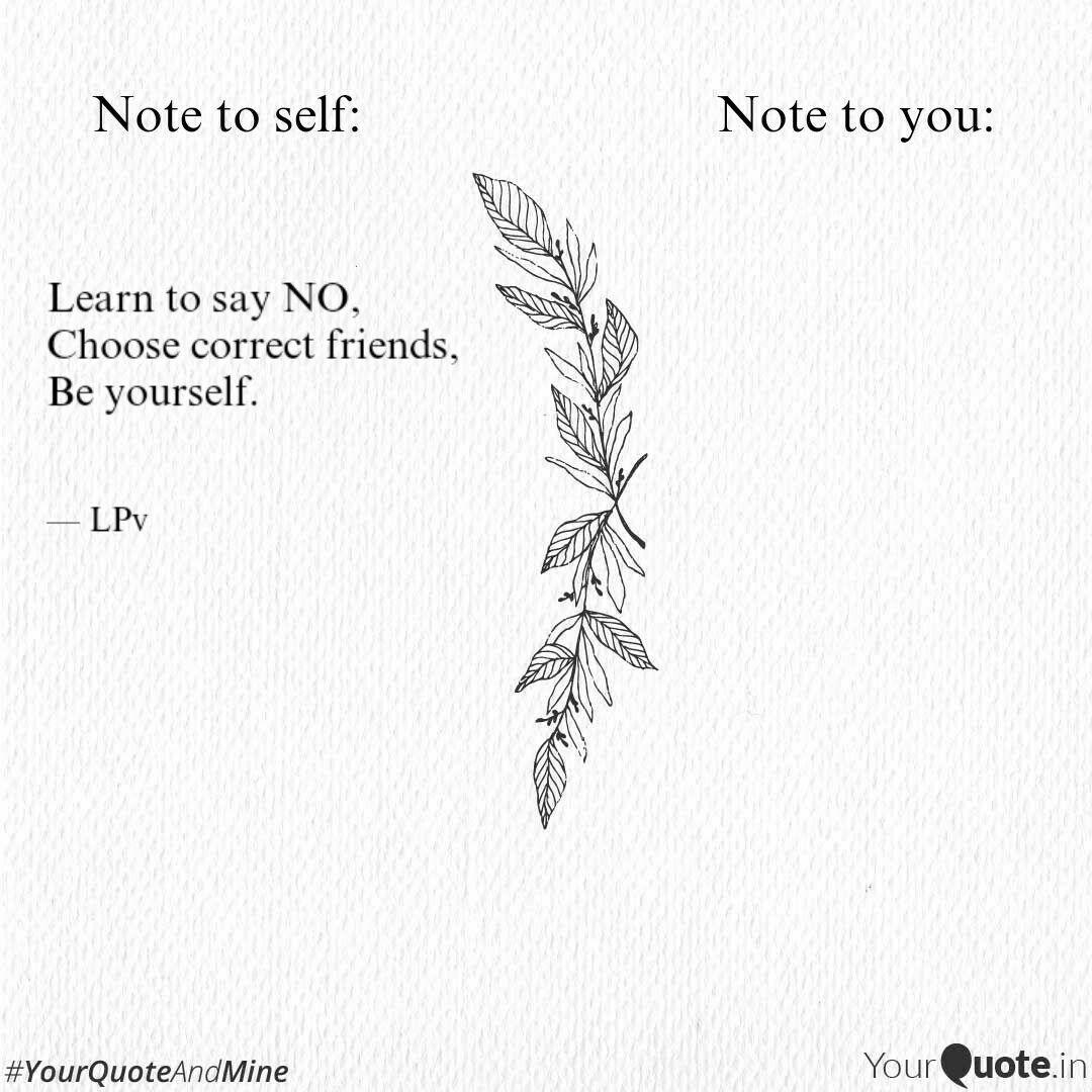 Learn To Say No Choose C Quotes Writings By Lakshi Prova Yourquote