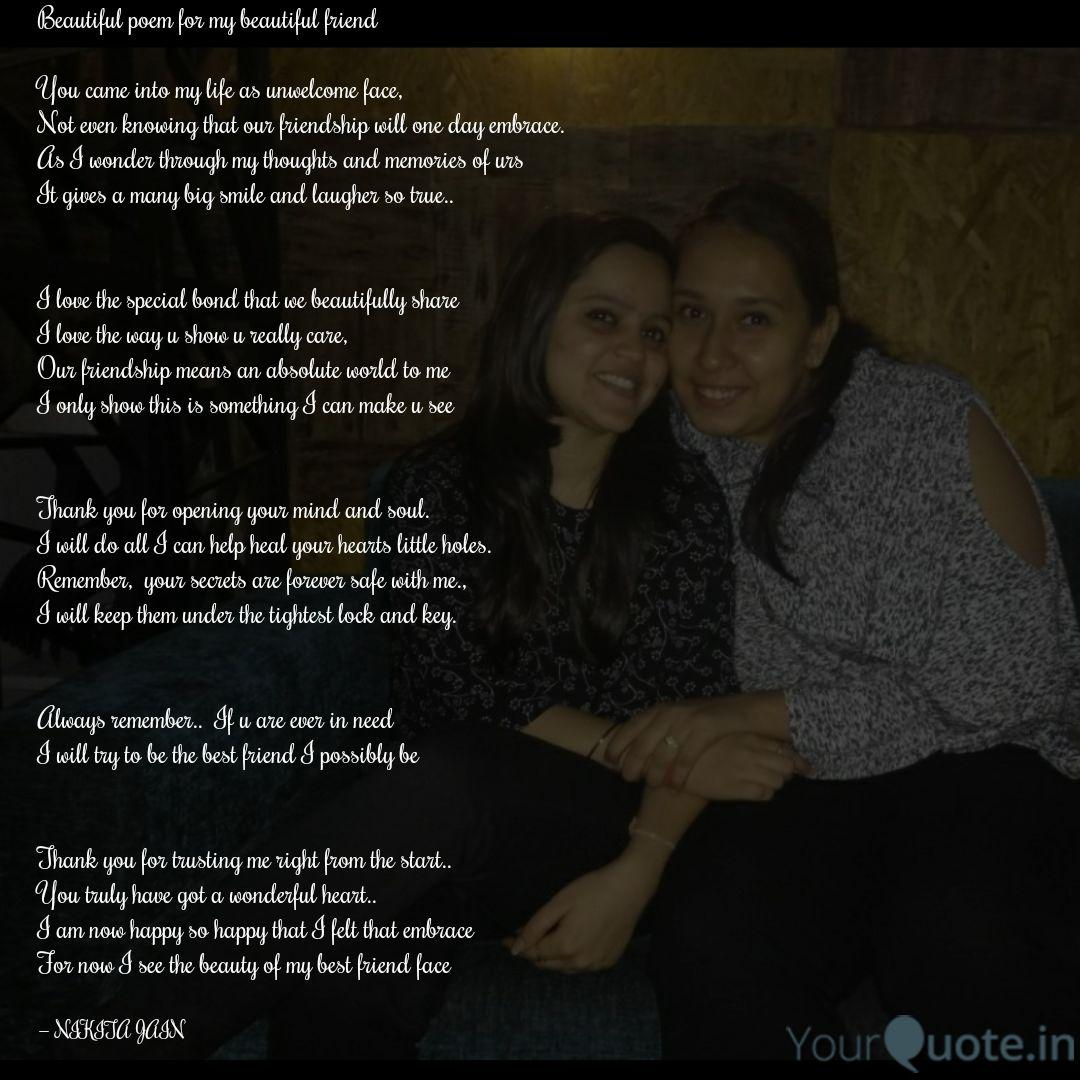 Beautiful poem my to friend 50+ You