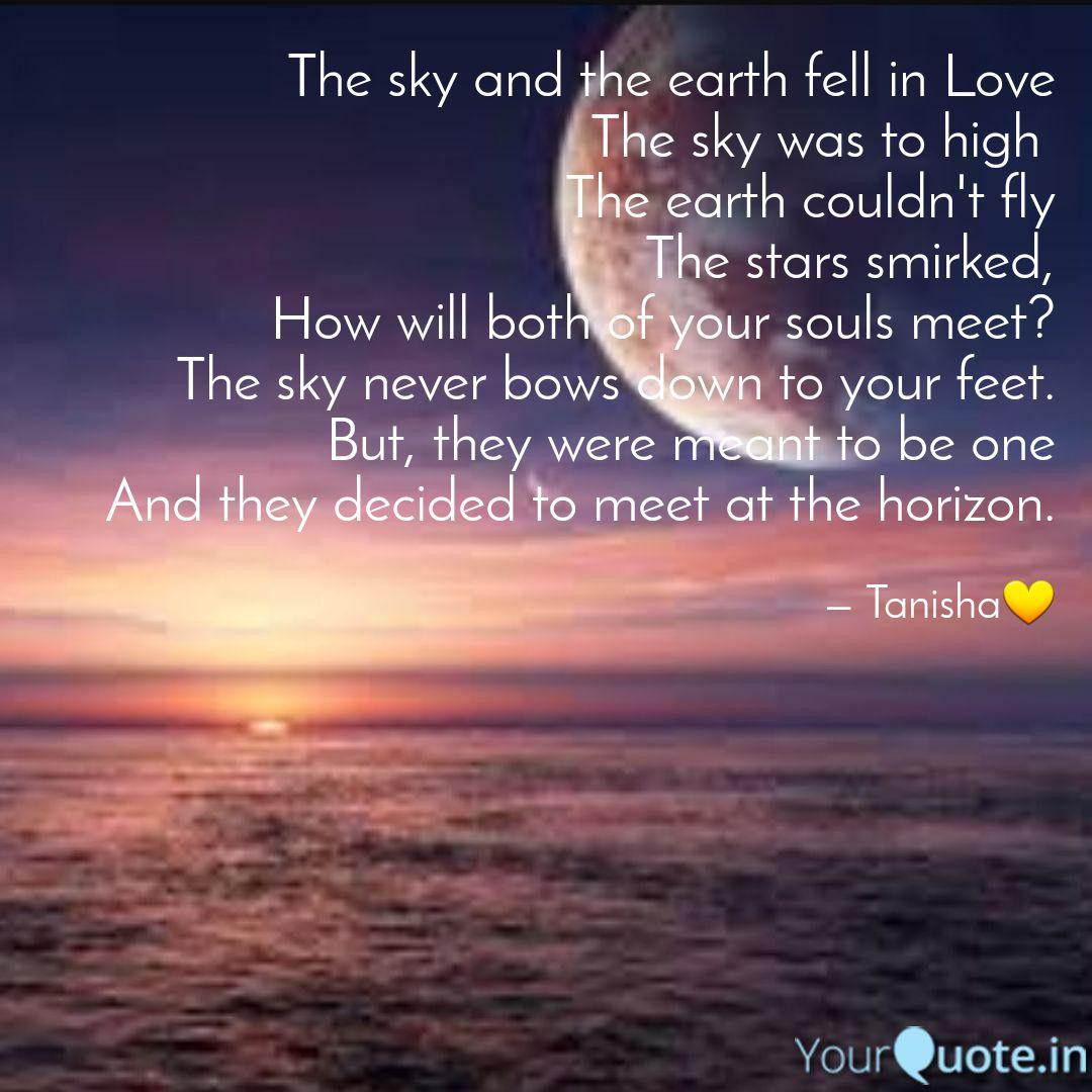 the sky and the earth fel quotes writings by tanisha dutta