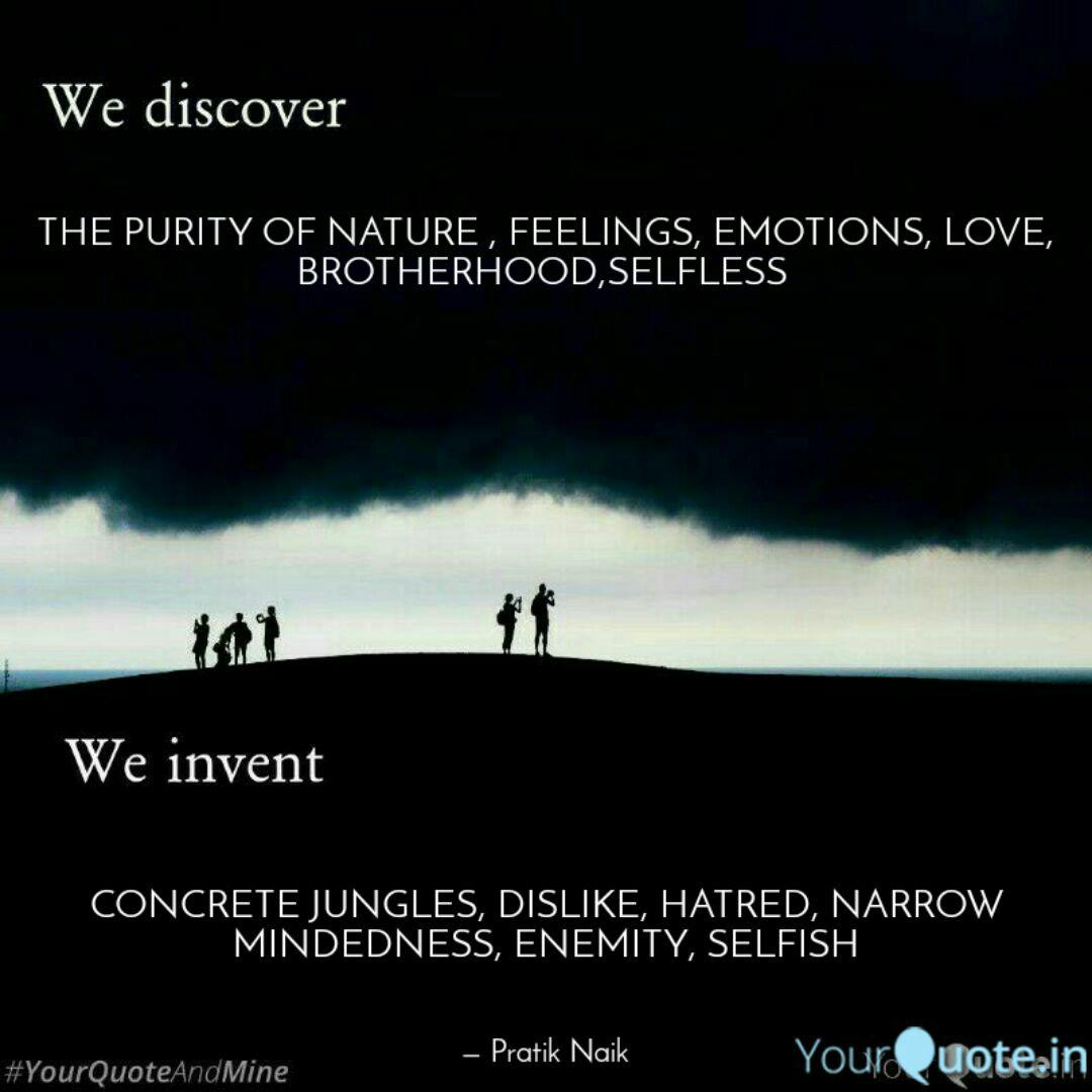 the purity of nature fe quotes writings by pratik naik