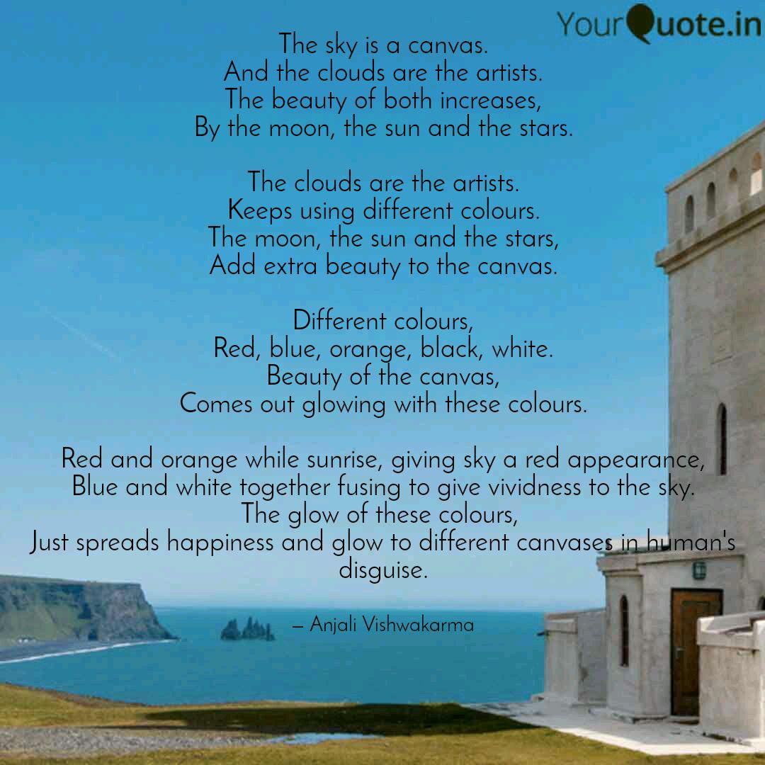 the sky is a canvas and quotes writings by anjali