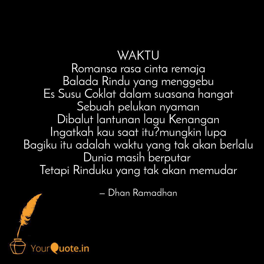waktu r sa rasa cinta quotes writings by dhan ramadhan