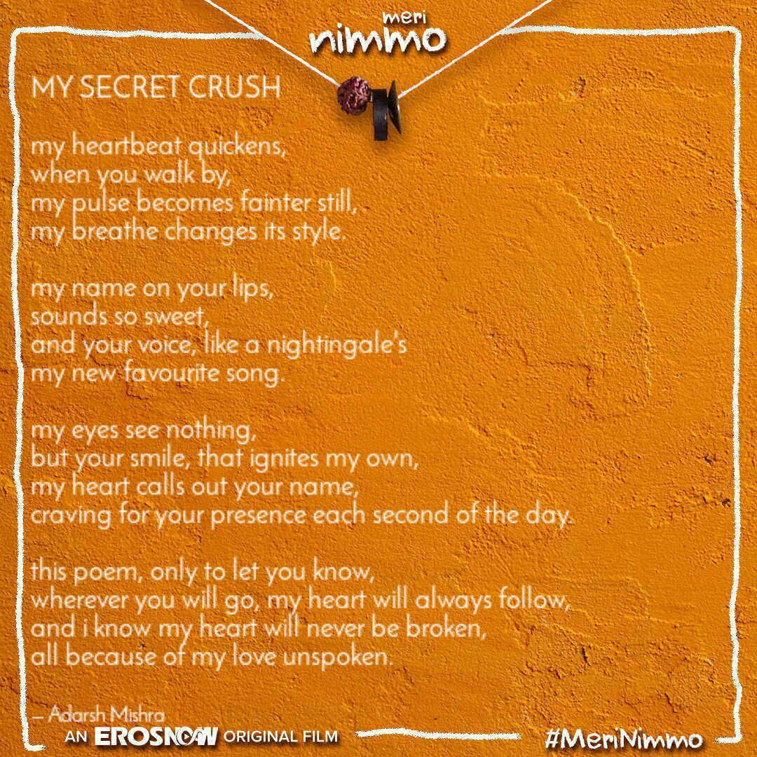 About secret crushes poems love Love Poems