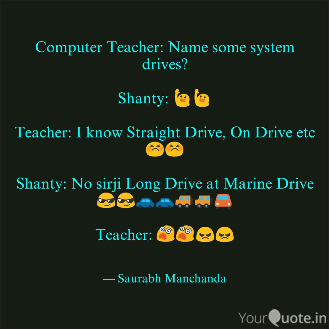 computer teacher so quotes writings by saurabh