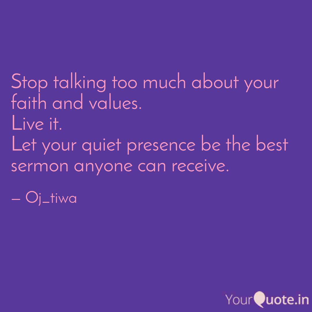 Stop talking too much abo... | Quotes & Writings by Oluwamayowa Joseph |  YourQuote