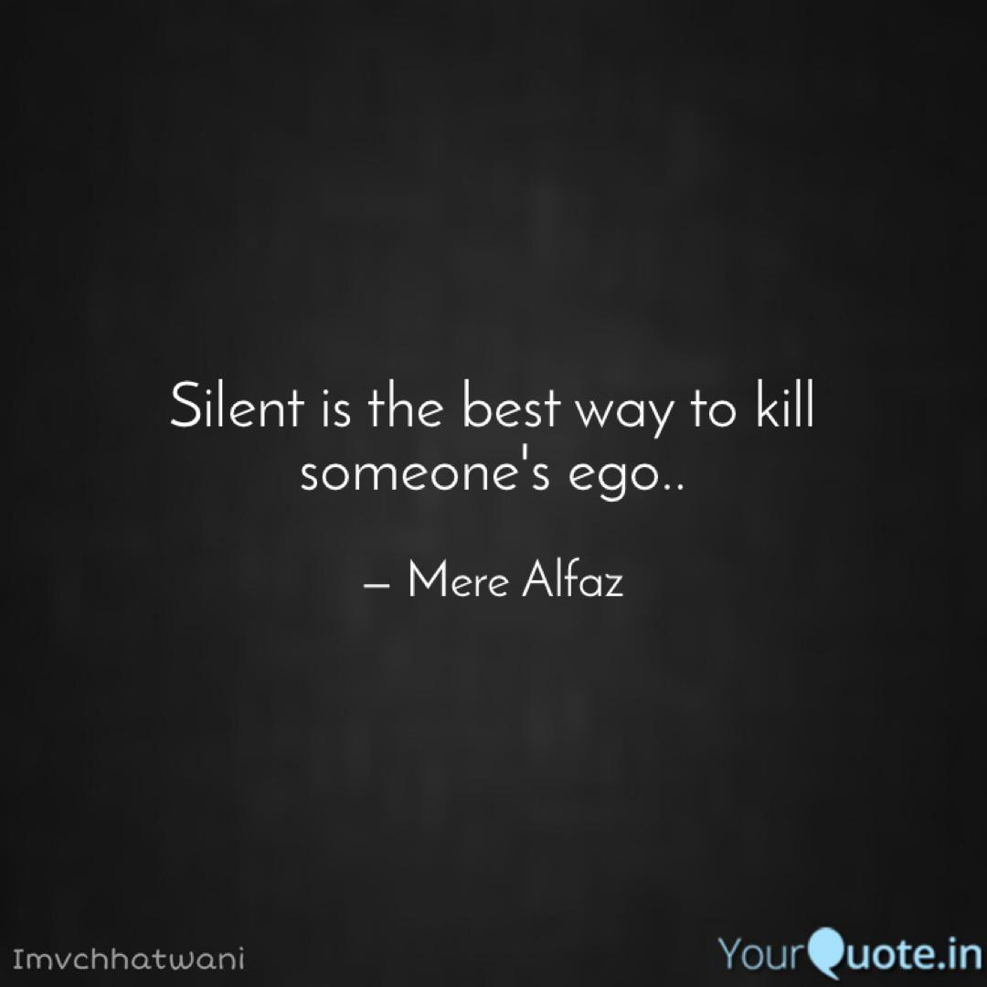 silent is the best way to quotes writings by vishal