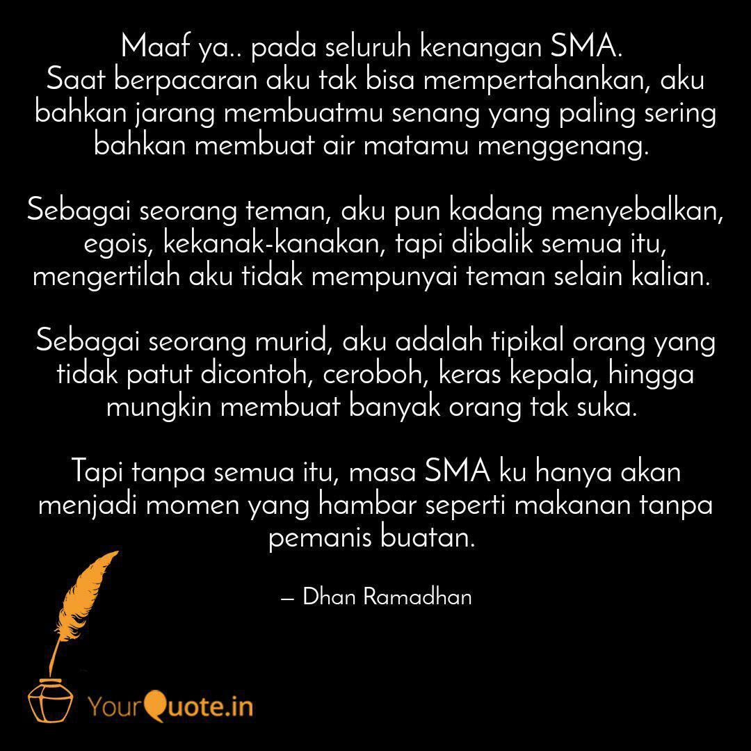 maaf ya pada seluruh ke quotes writings by dhan ramadhan