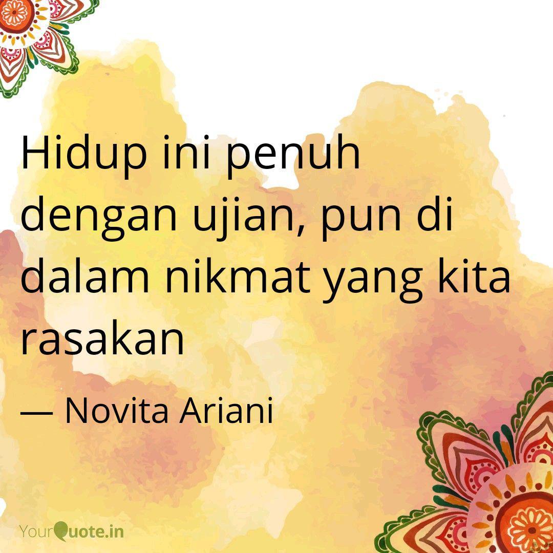 hidup ini penuh dengan uj quotes writings by novita ariani