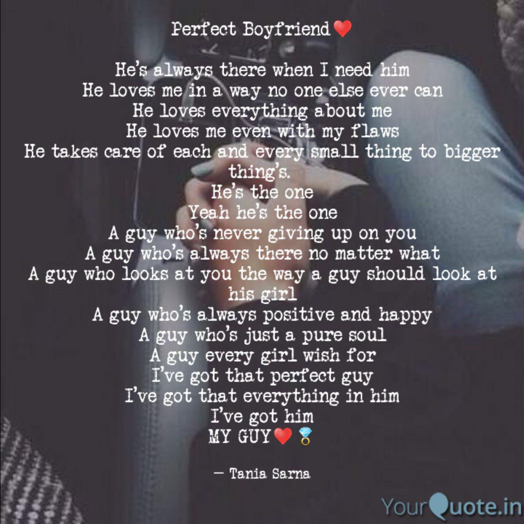 Perfect Boyfriend♥️ He\'s... | Quotes & Writings by Tania ...