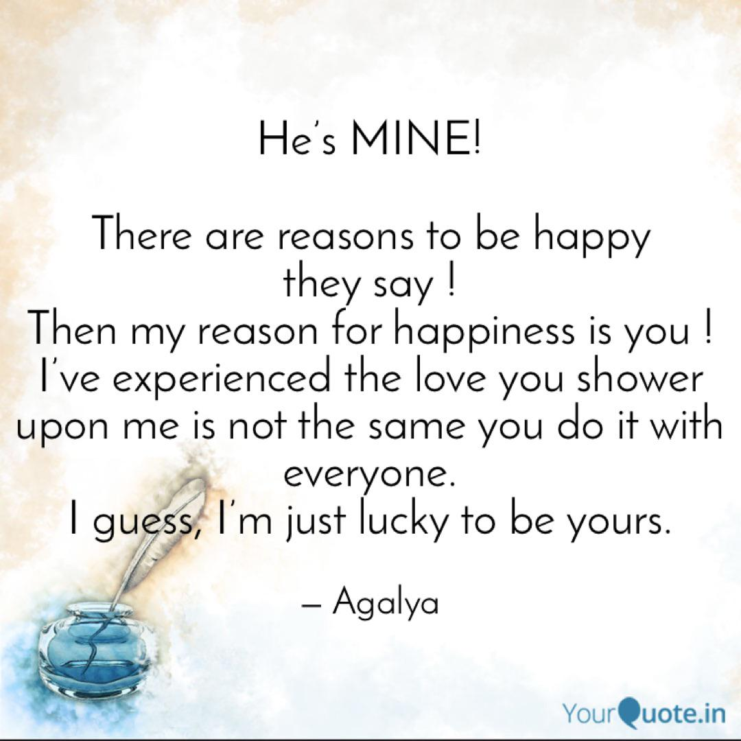 He\'s MINE! There are rea... | Quotes & Writings by Agalya ...