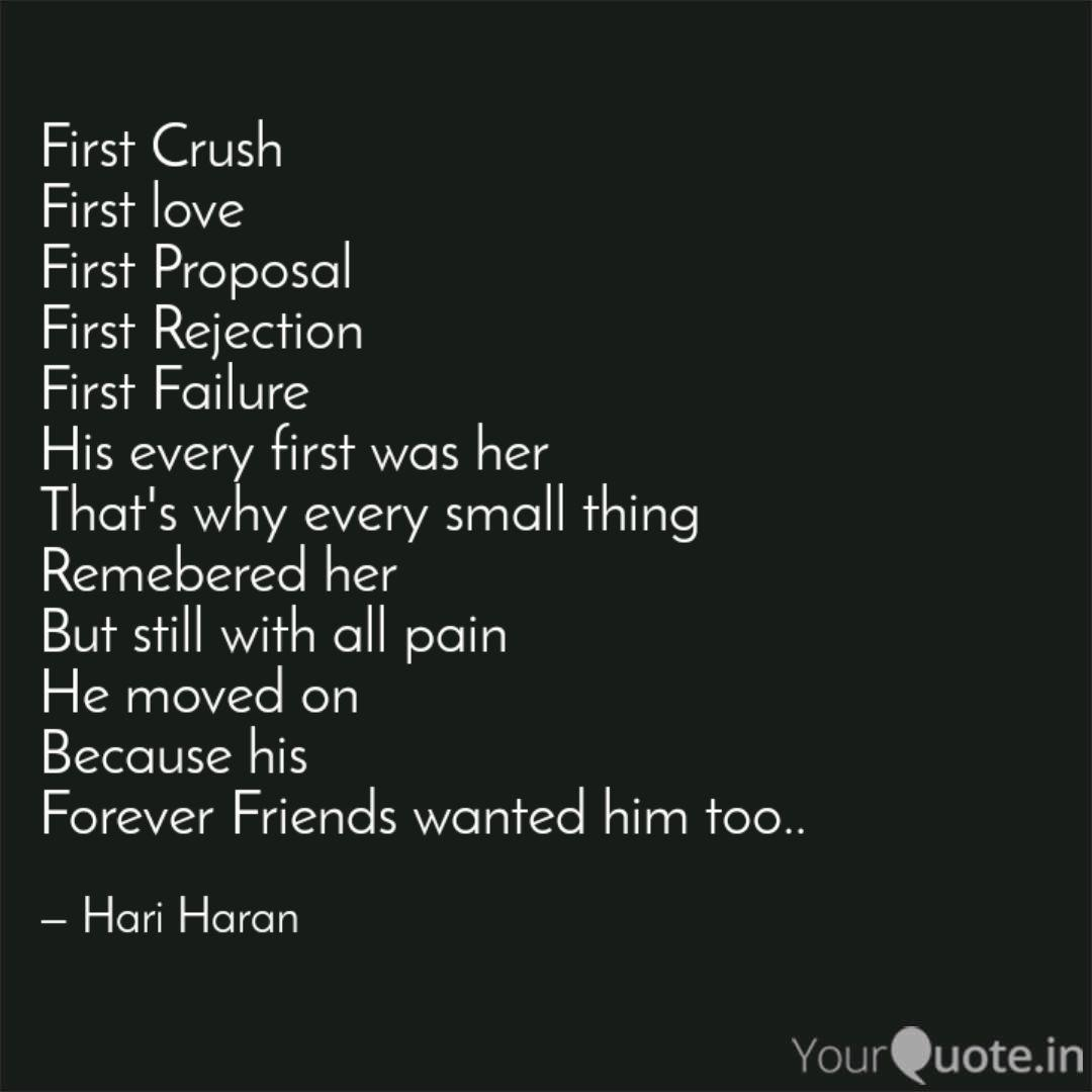 First Crush First love F  Quotes & Writings by Hari Haran