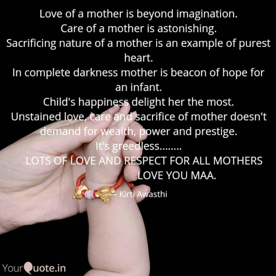 Love Of A Mother Is Beyon Quotes Writings By Kirti Awasthi Yourquote