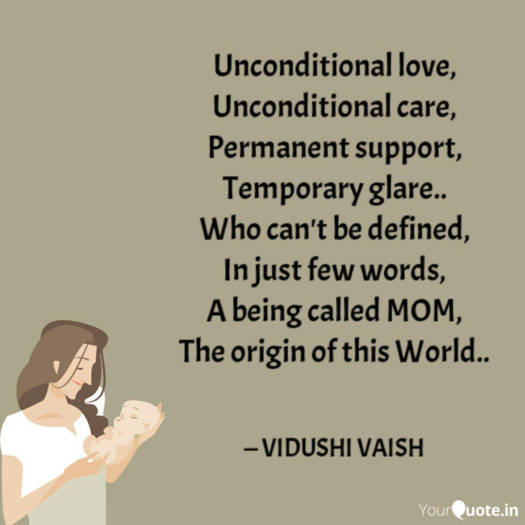Unconditional love, Uncon  Quotes & Writings by BIDUSHI VAISH