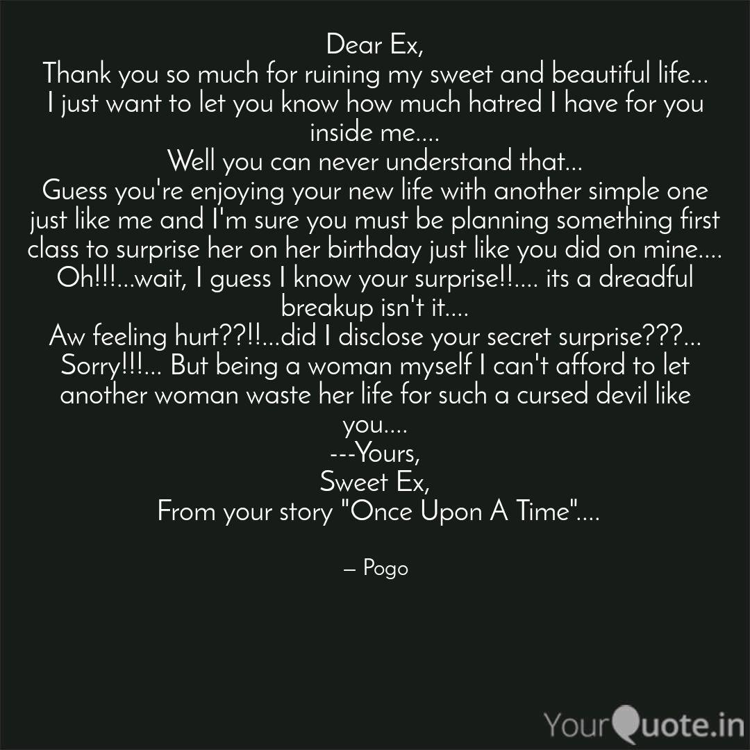 Dear Ex, Thank you so muc    | Quotes & Writings by