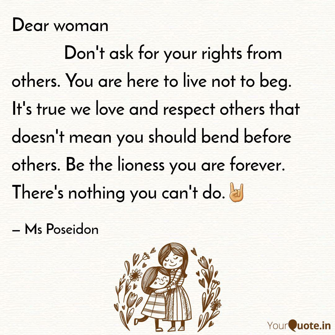 Dear woman Do... | Quotes & Writings by Jennifer P | YourQuote