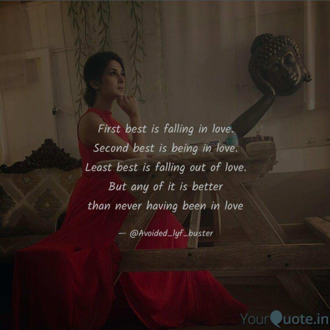 First best is falling in ...   Quotes & Writings by Sumit ...