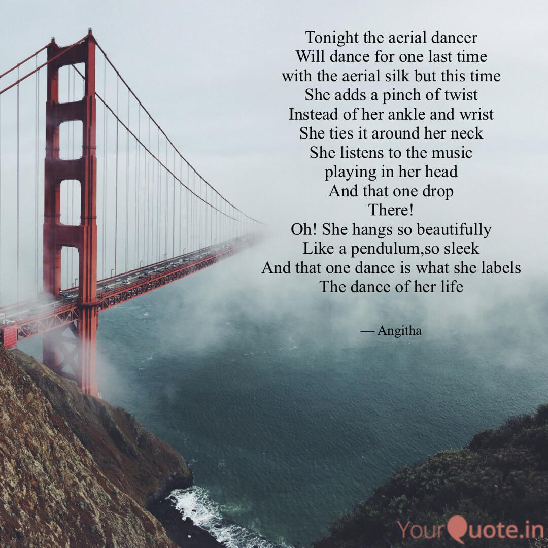 Tonight the aerial dancer... | Quotes & Writings by Angitha ...